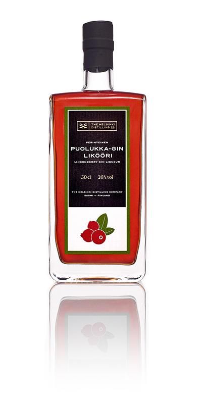 Puolukka-Gin Likööri